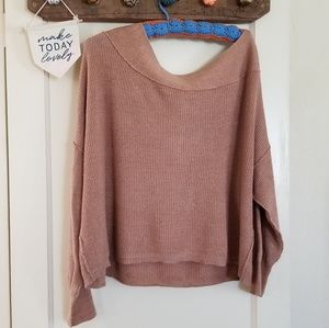 Free People Off The Shoulder Ribbed Sweater